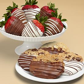strawberries and cookies