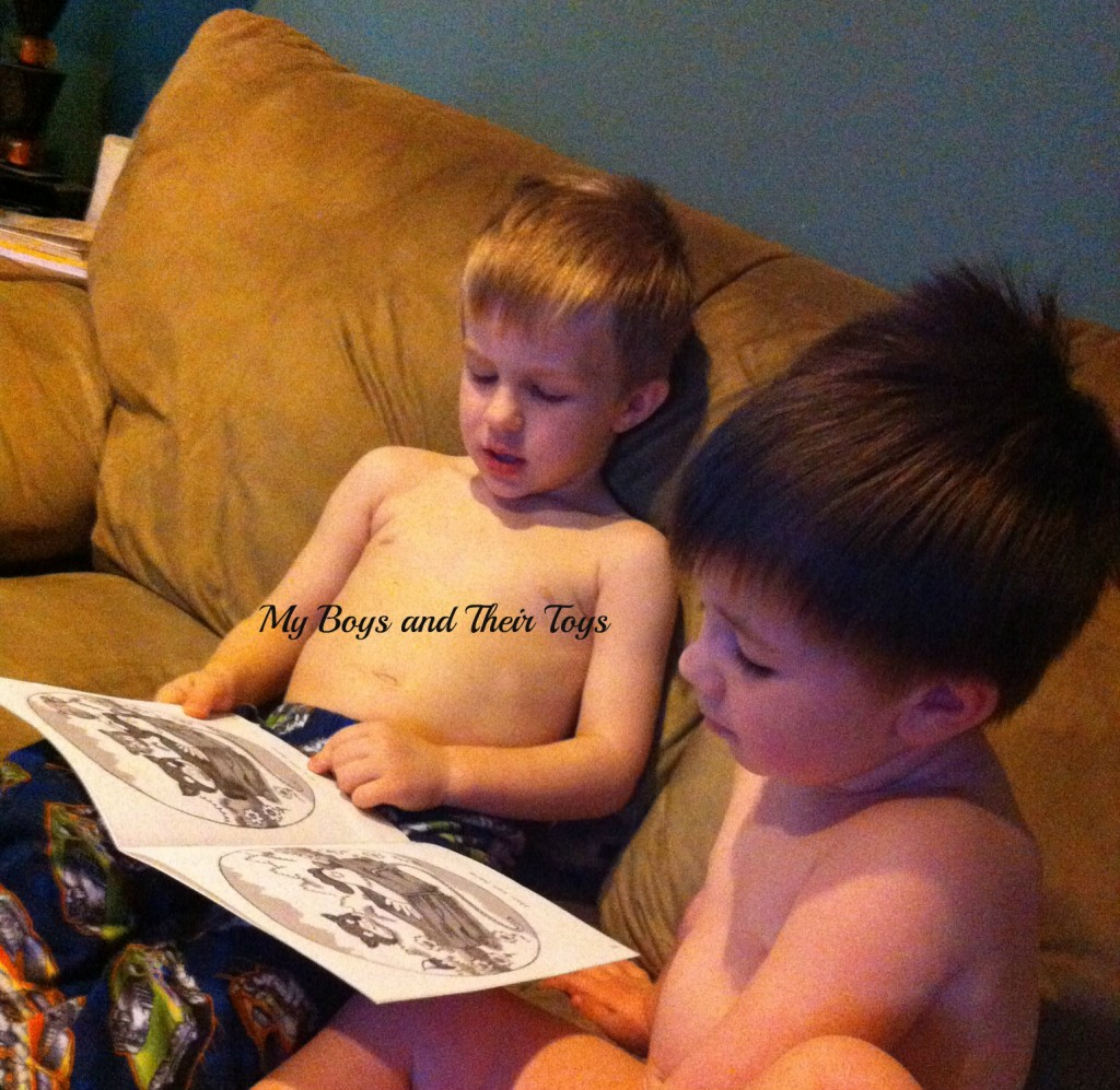 Reading to his brother