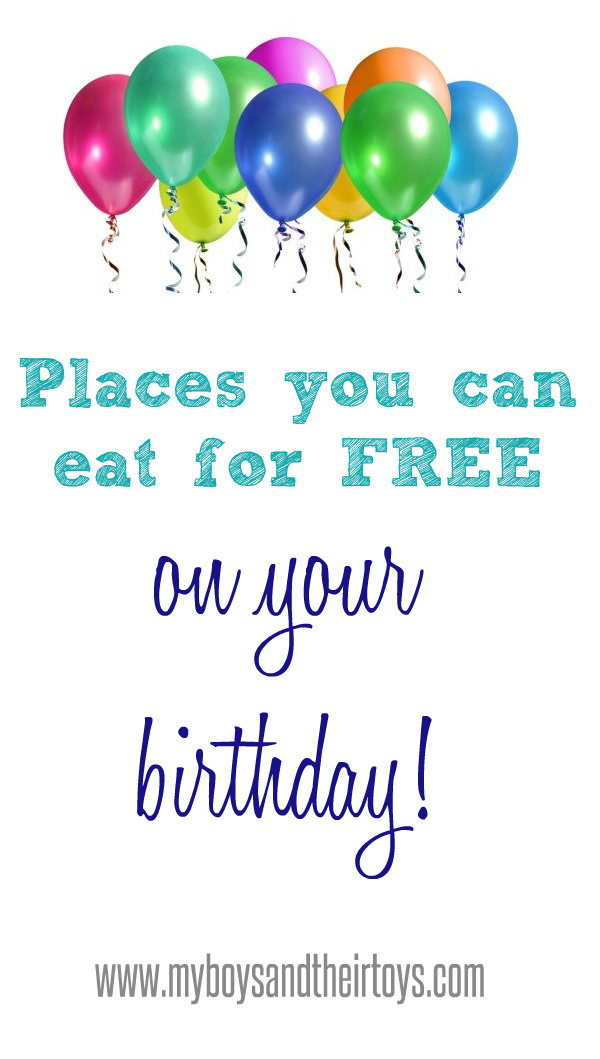 Where to eat free for your birthday