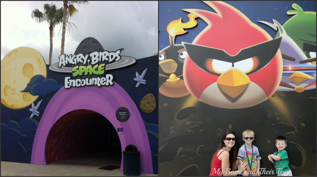 Angry birds entrance collage