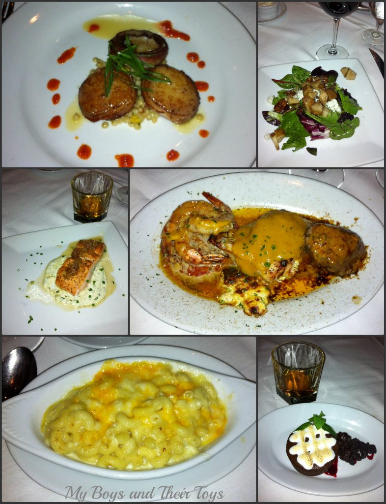 Ruths Chris five course meal