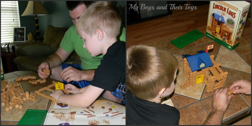 building with lincoln logs