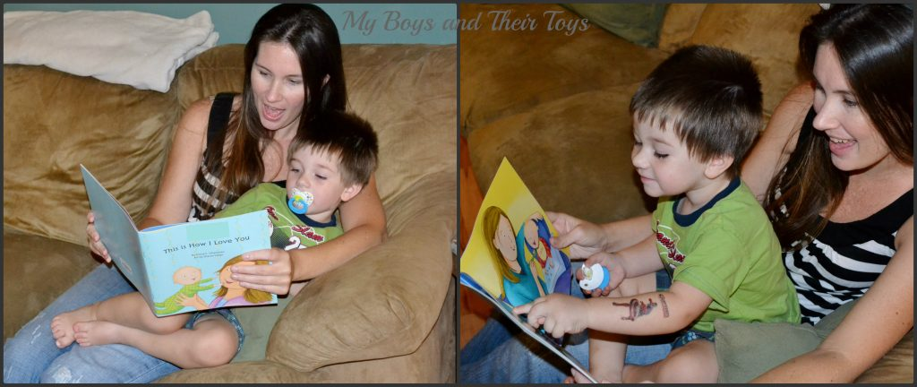 Mommy reading to baby