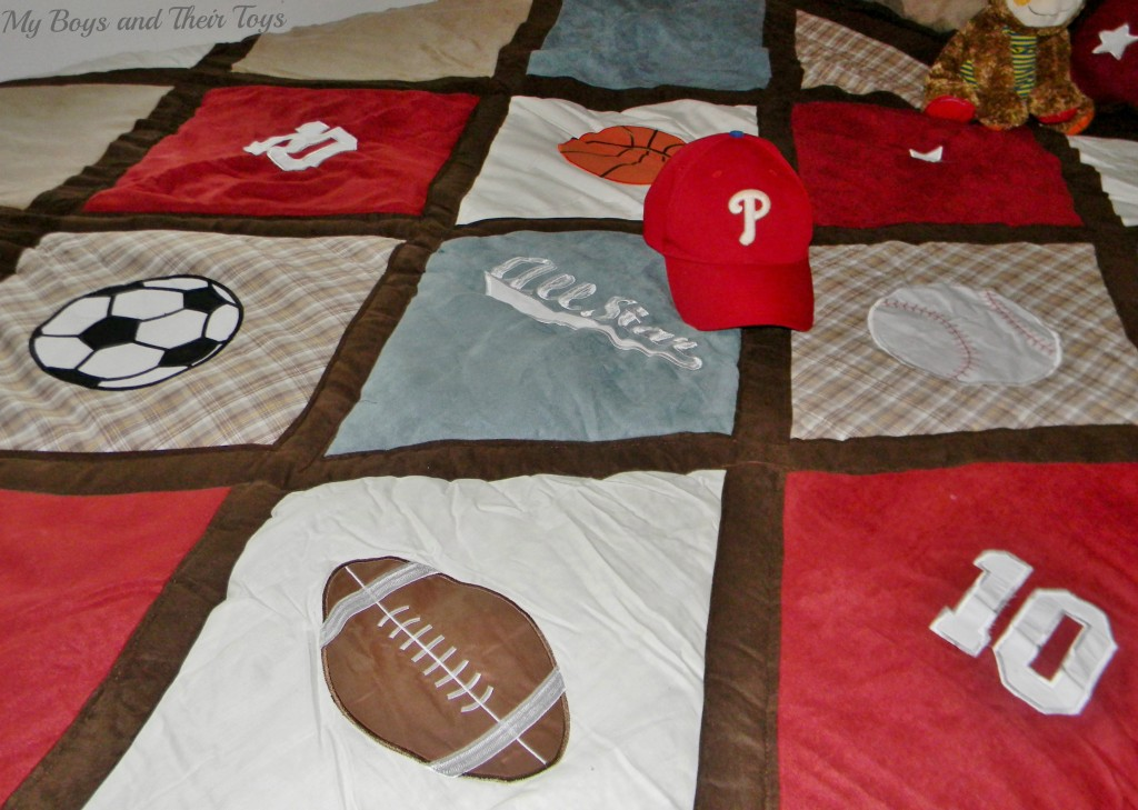 boys bedding sport themed