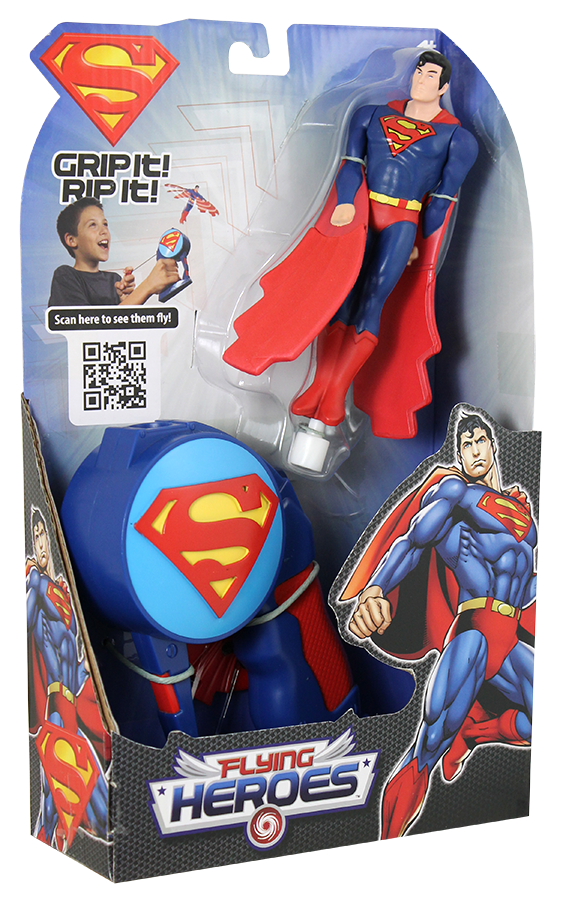 flying superman toy