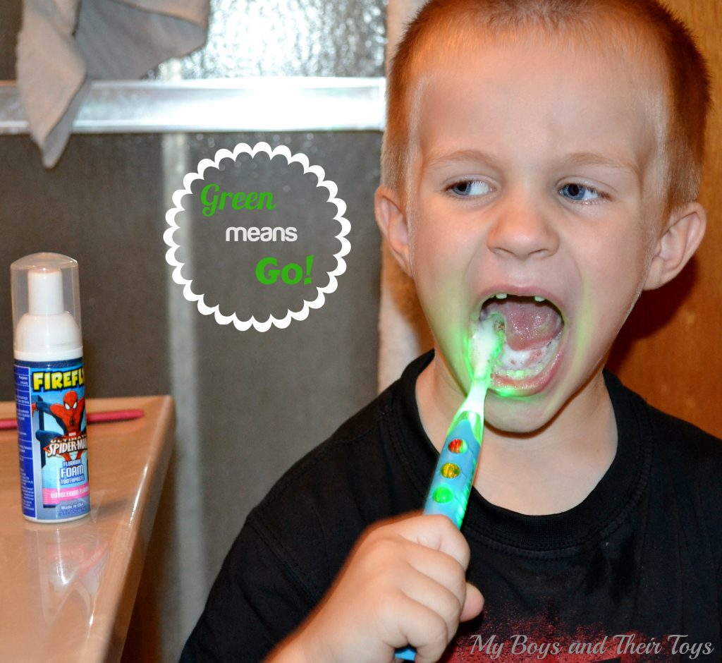 brushing his teeth