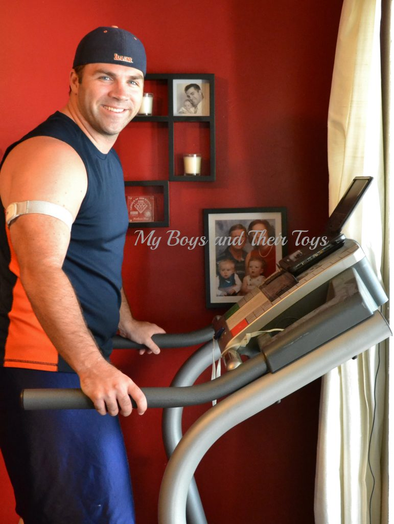working out on treadmill