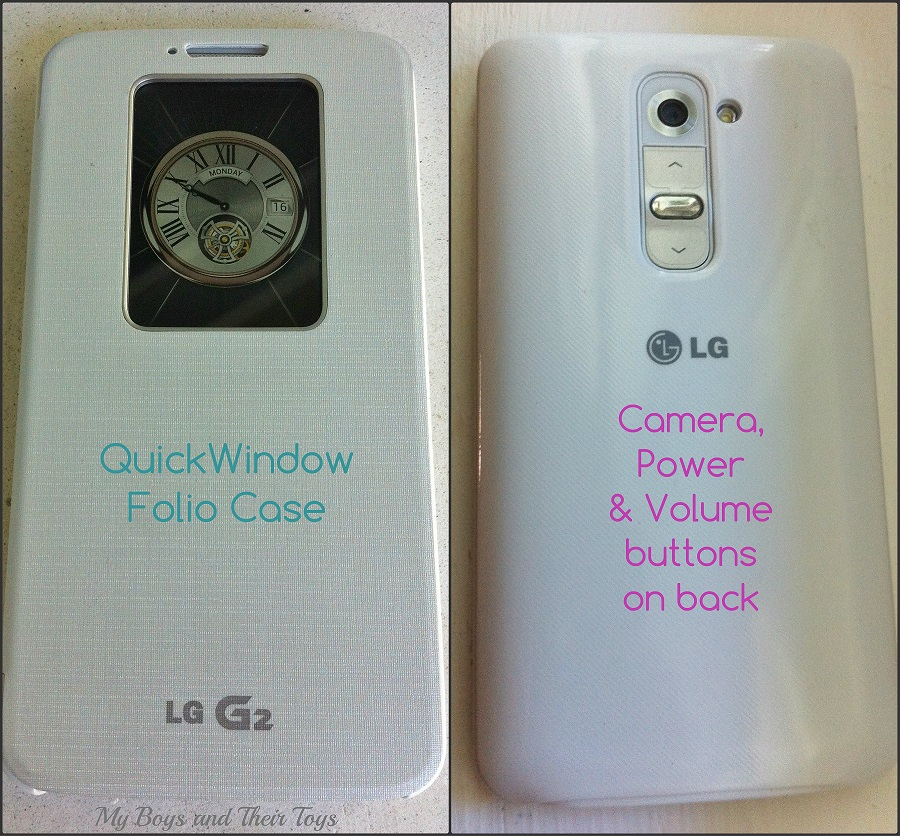 LG G2 front and back