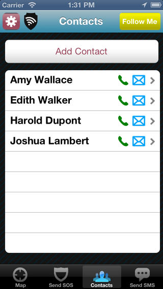 react mobile contacts