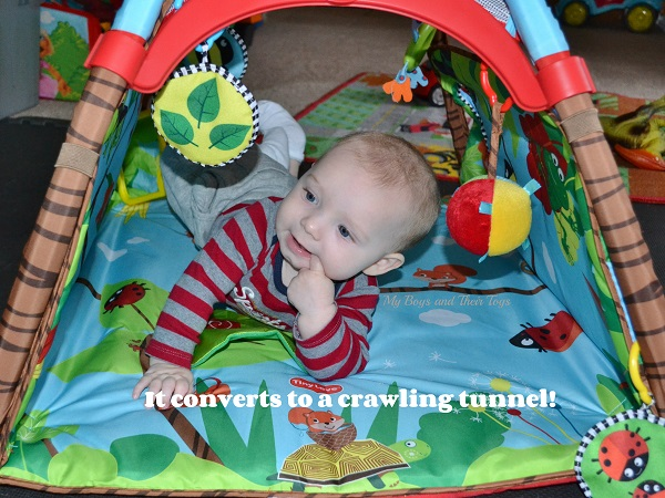 baby play mat tunnel