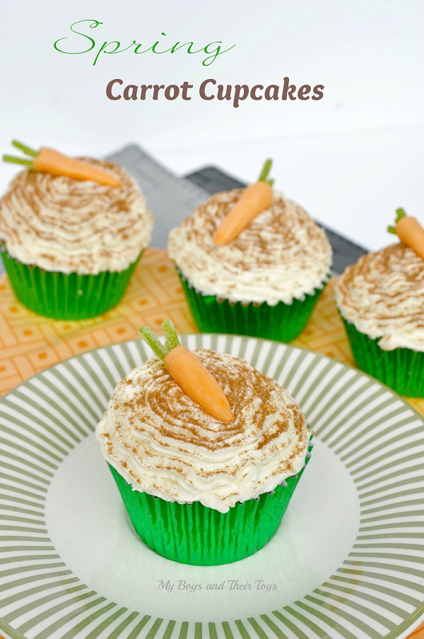Spring carrot cupcakes