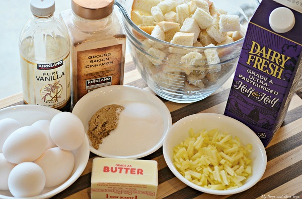 Cinnamon Apple French Toast ingredients