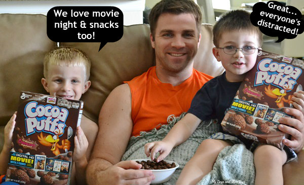 Cocoa Puffs movie night