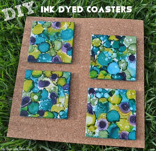 DIY Dyed Coasters
