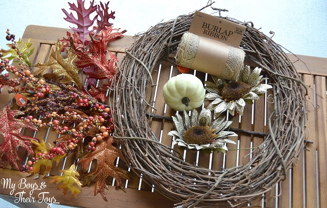 Fall wreath materials
