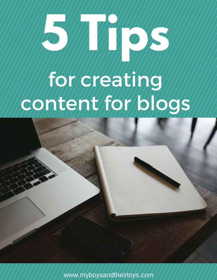 5 tips for creating content for blogs