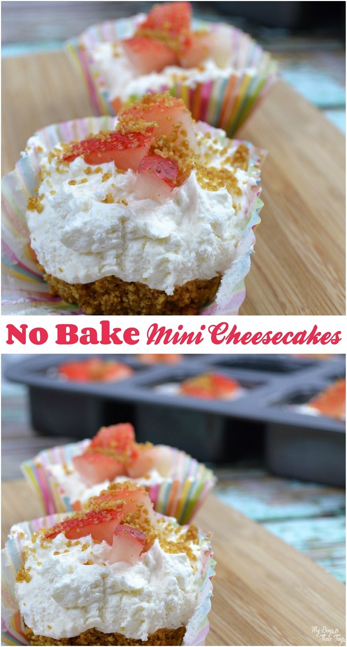 no bake mini cheesecakes