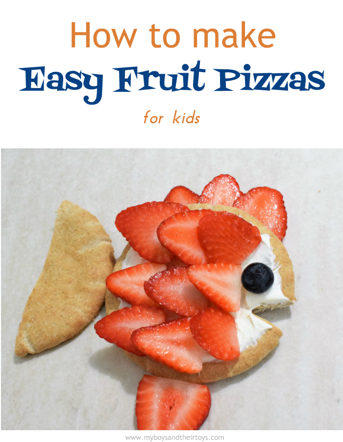 how to make easy fruit pizzas