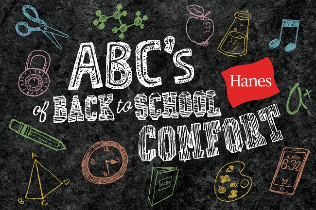 back to school with hanes
