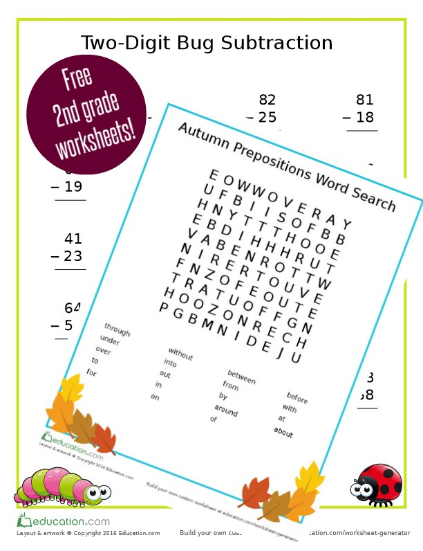 free 2nd grade math sheets