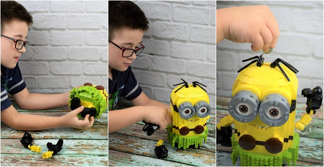 minion bank collage