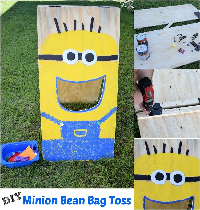 minion bean bag toss game