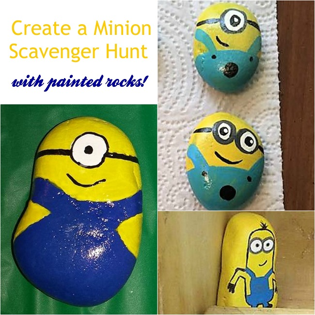 minion painted rocks