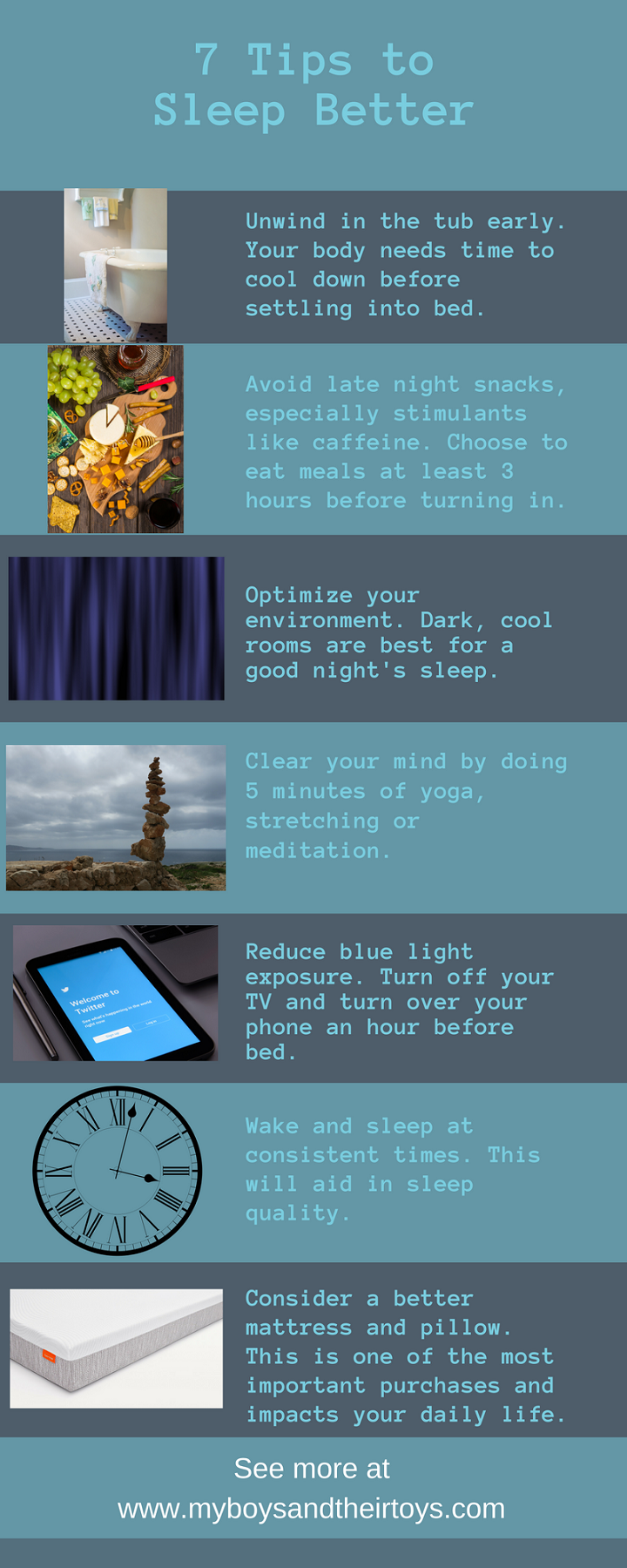 7 tips to sleep better
