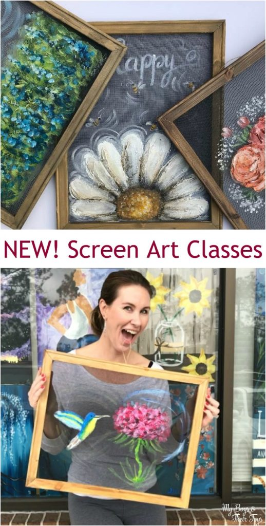screen art classes