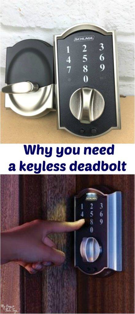 keyless deadbolt door