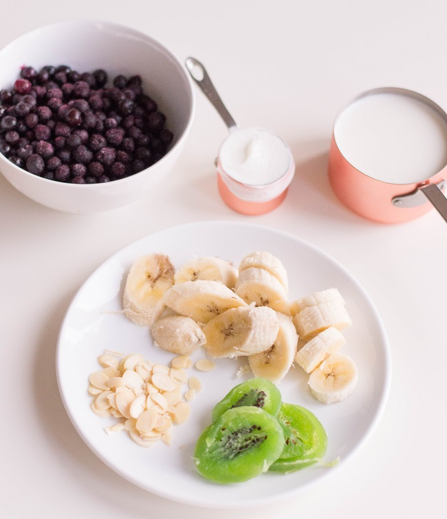Mermaid Smoothie Bowl-ingredients