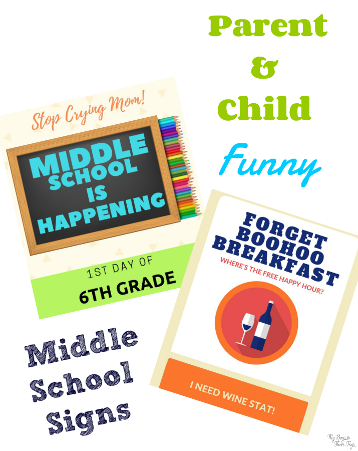 middle school first day of school signs