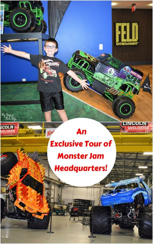 monster jam headquarters video