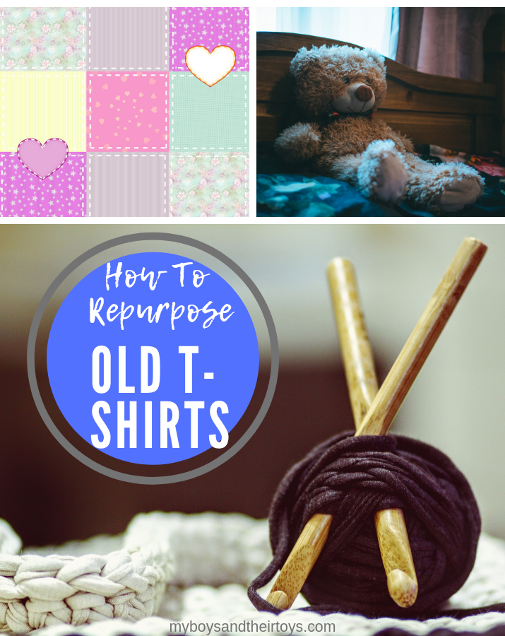 Repurpose old t-shirts
