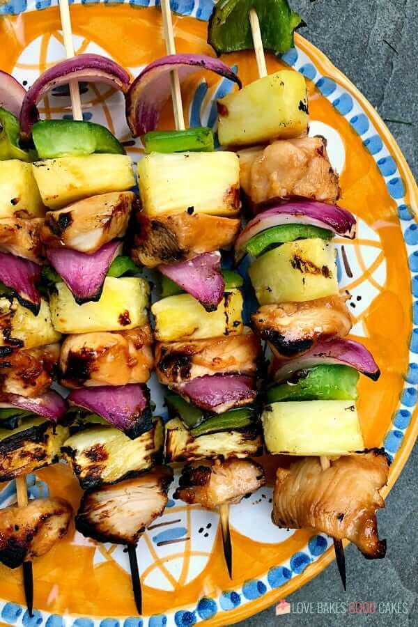 hawaiian-chicken-kebobs Summer Party Food