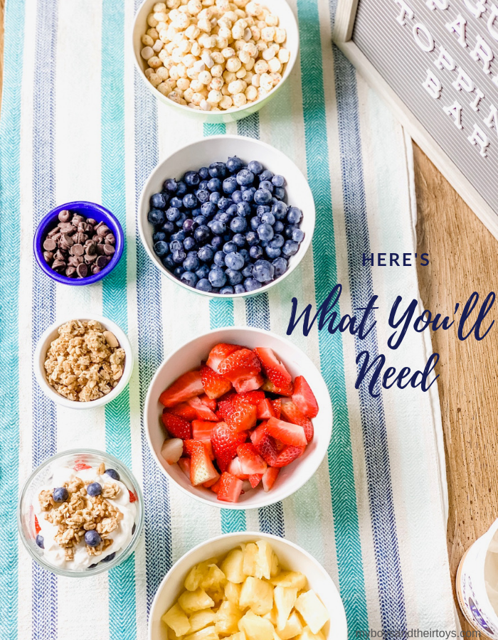 here's what you'll need Yogurt Parfait Bar