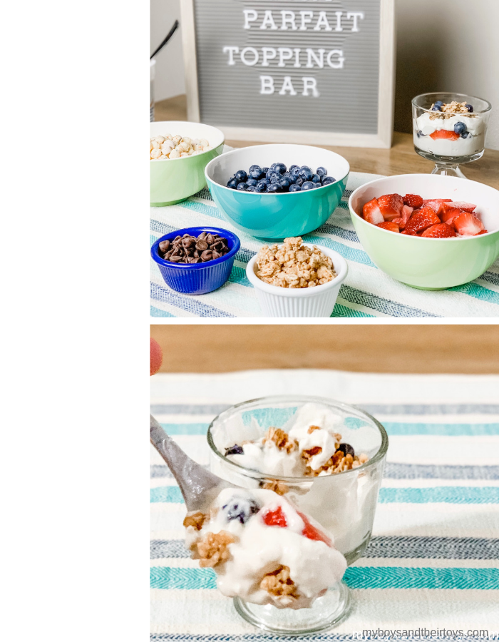 parfait topping bar