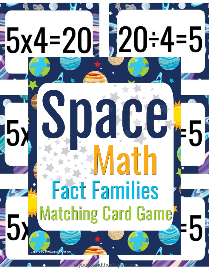 math fact flash cards
