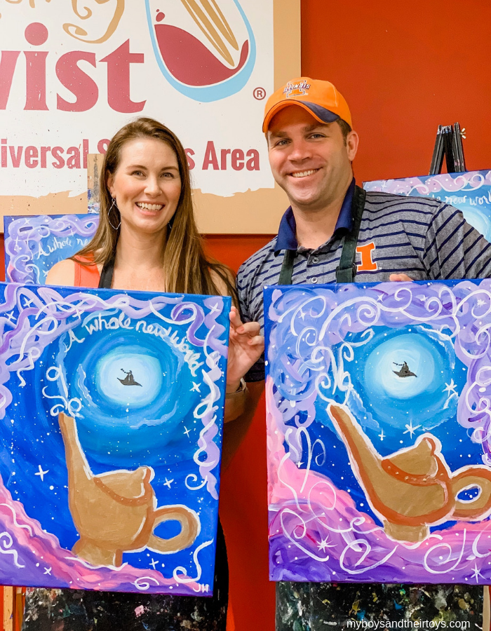 disney aladdin paint night Painting With a Twist